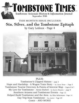 Tombstone Times - Tombstone's History Journal image
